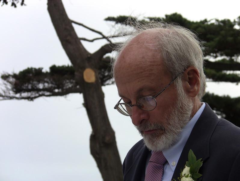 Paul Snider, Jan's husband, contemplating his toast.
