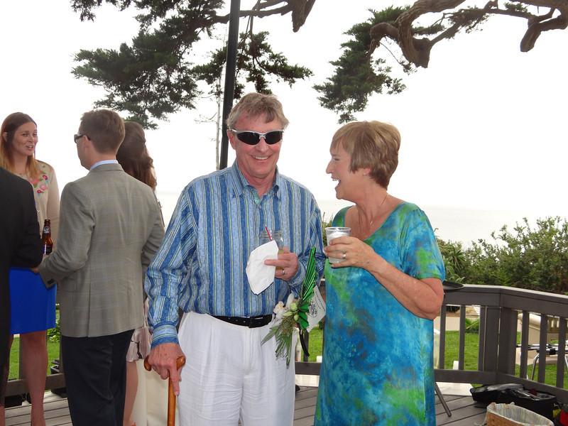 Cousin, Bob Francis, and Jan enjoying the festivities.