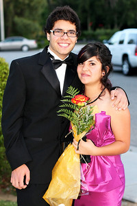 Sergio and his friends going to the Grove HS prom (May 2011).  The group of eight of them rented a limo for a fun evening at the Mission Inn in Riverside.
