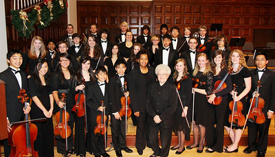 The Redlands Youth Symphony.  Taken in the University of Redlands Memorial Chapel after their Christmas Concert (Dec. 2010)