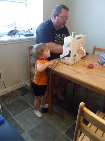 Sewing Daemeon's Baby-Memory Blanket