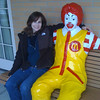 Lori and Ronald at Ronald McDonald House