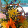 flowers from Hans, Cathy and the boys