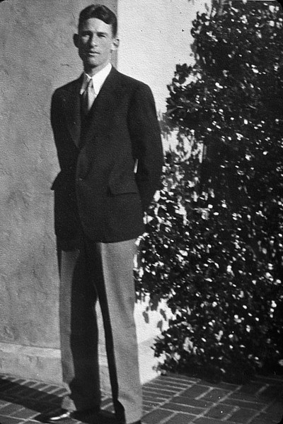 Ben Scheidecker, son of Albert and Mary Scheidecker, about 1930.  More than likely, graduation from UC Berkeley with a degree in electical engineering.