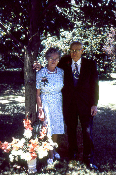 Louis C. Scheidecker and his wife Alma G Scheidecker at Carolyn and Bob's wedding.