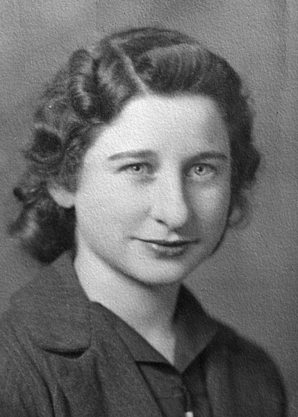 Virginia Louise Scheidecker, high school picture.