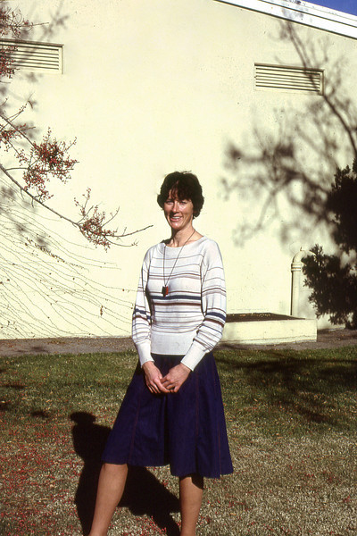 Carolyn Nelson just before she heads to Sydney Australia to pursue her Ph D. at Sydney Univiersity,  about 1981.