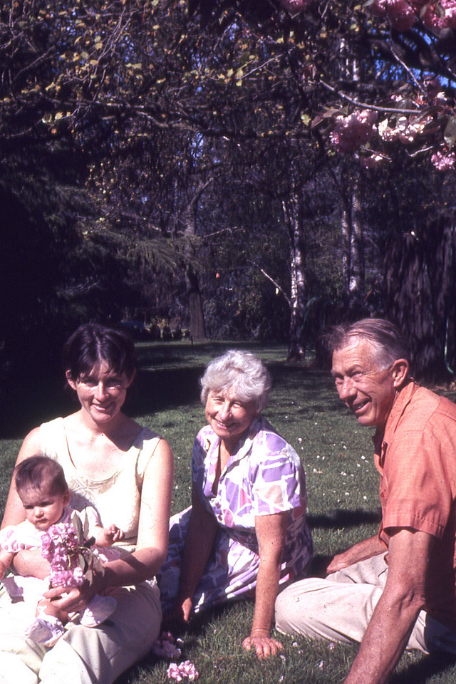 Virginia and Mauritz Nelson with their daughter and granddaughter, Carolyn and Gwendolyn Roeske.