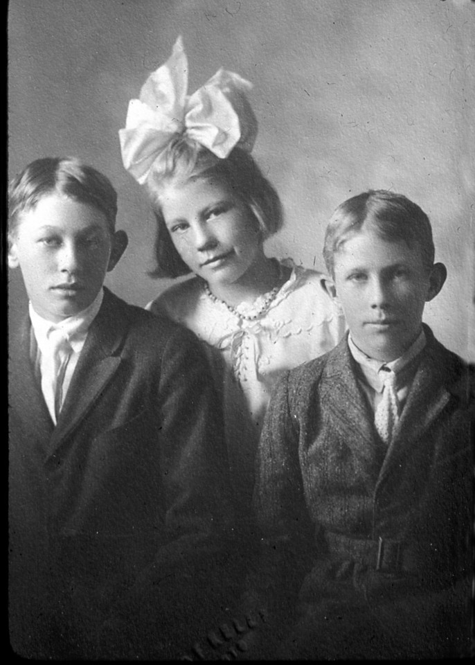 From the left:  Walter, Irene and Mauritz Nelson