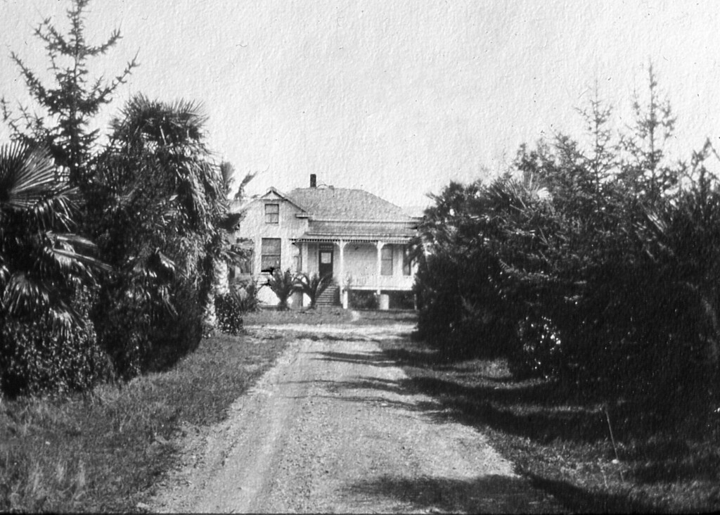The road into the house and farm occupied by Albert F. and Mary Louise Scheidecker.  Unknown date.