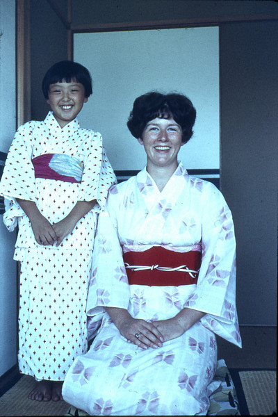 Carolyn Nelson and friend in Japan  about 1967