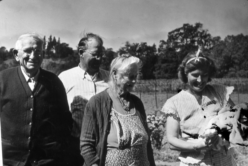 From the left, Albert, Louie, Mary and Alma Seidecker with baby Garnie.