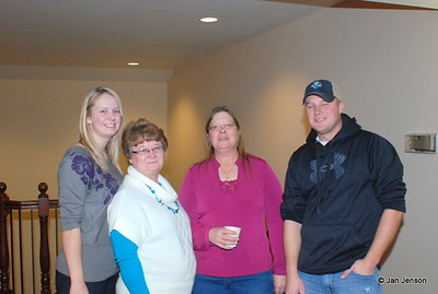 Stephanie Robinson, Barb Robinson, Shelly Roberts (Jan's daughter) and Donald Robinson.