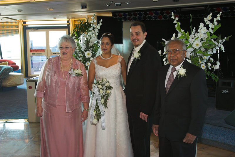 Sheila and Luis Wedding, Sovereign of the Seas, Port Canaveral, Florida