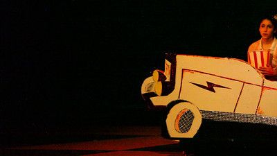 Alone at the drive-in.  Act 2, Scene 3