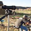 Ron's spotting scope on target - and Ron about the take in the trigger creep.