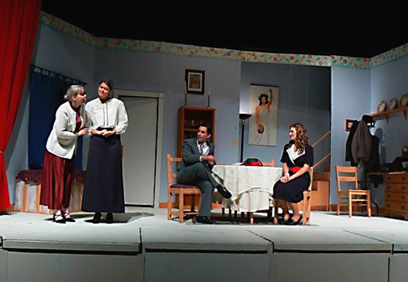 "Bethany (far left) in ""Arsenic and Old Lace"""