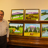 Hank and some of his paintings