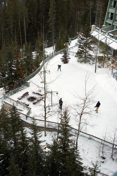A skating rink.