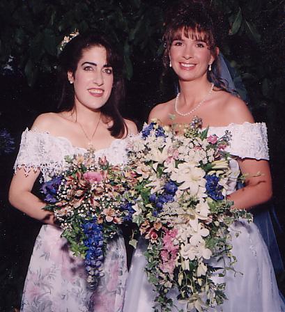 Jen looks just beautiful here at Robin's wedding.