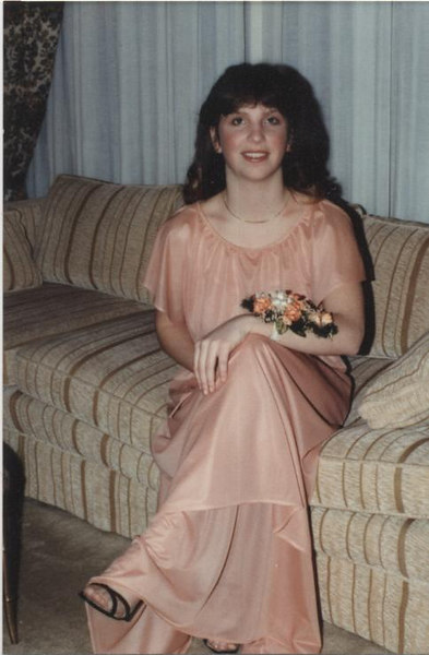 Michelle Siegrist Waters on the way to the Sweetheart's ball, February, 1980.