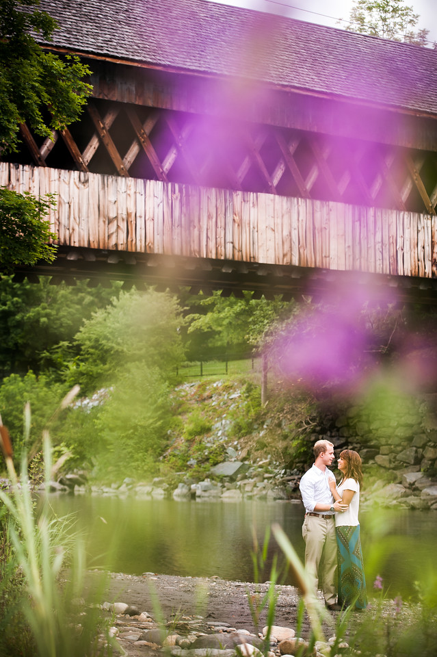 Chris and Sierra's engagement session in Woodstock, Vermont on Tuesday, August 12, 2014.