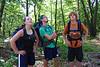 Lydia, Seth, & Matt Helmuth about to start off on their Appalachian Trail hike, 2010