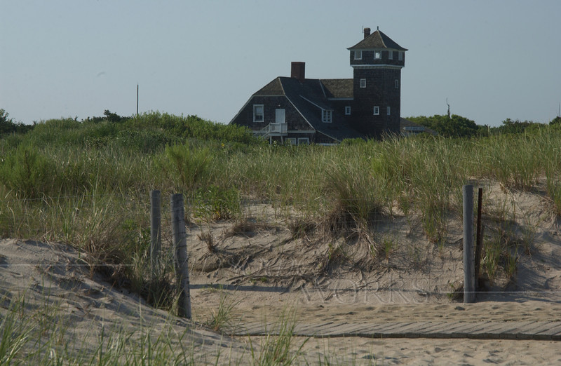 Sandy Hook Visitors' Center, seen from beach