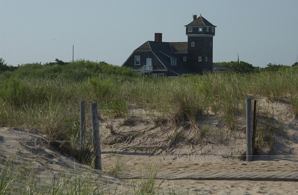Sandy Hook Visitors' Center, seen from beach