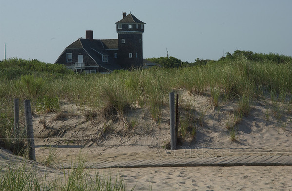 Sandy Hook Visitors' Center seen from beach