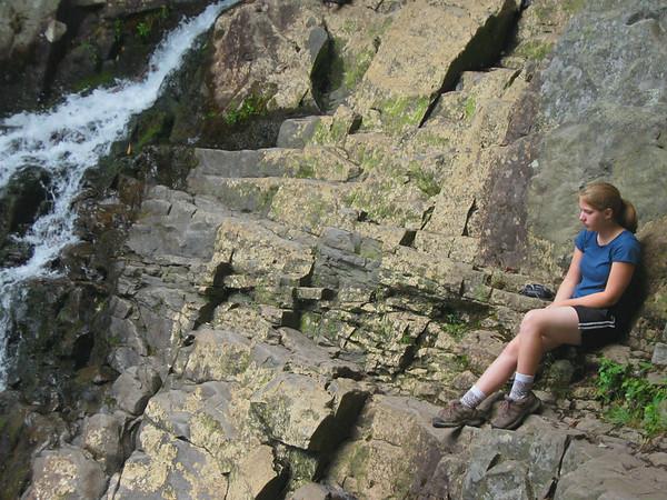 Lydia at the falls - Hickory Run