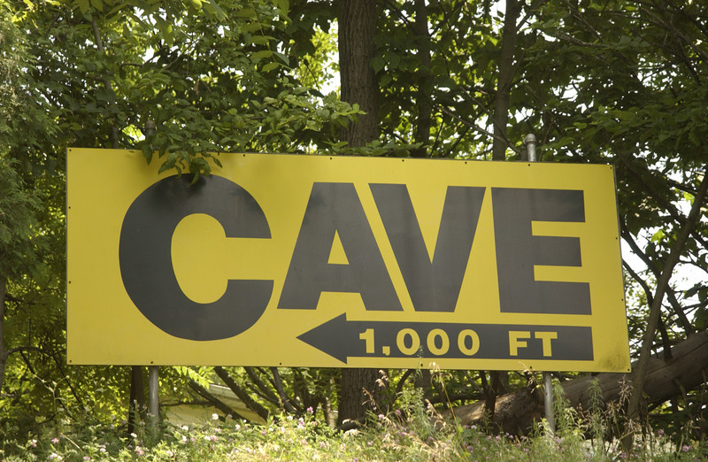 Sign on the way to Lost River Caverns