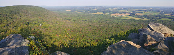 Bake Oven Knob pano, looking towards the Lehigh Valley