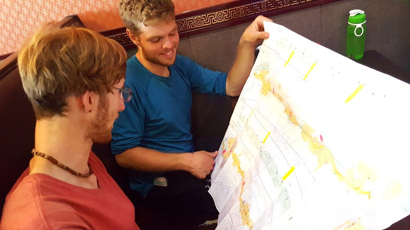 Planning the upcoming trail sections