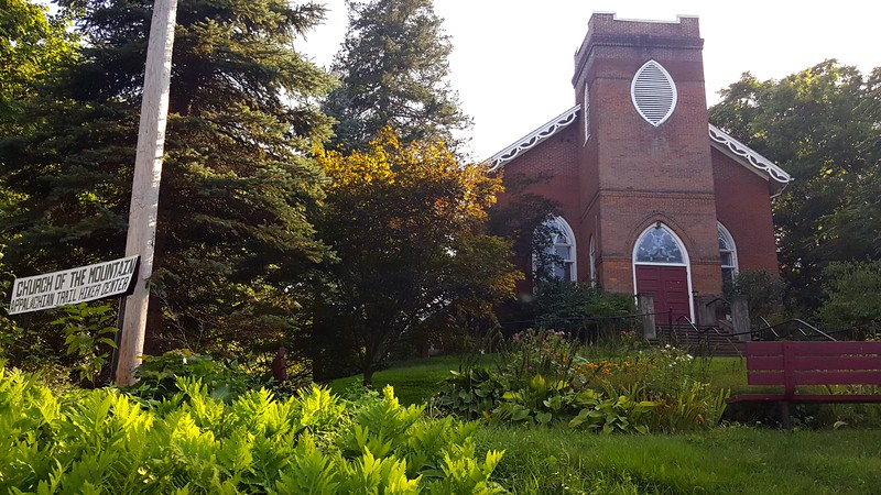 The Church of the Mountain Hiker Hostel in Delaware Water Gap, PA where Seth & Peter Stayed when re-stocking