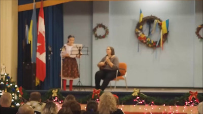 Ukrainian National Federation Childrens' Christmas Concert with 12-yr old Julianna and 10-yr old Christina.