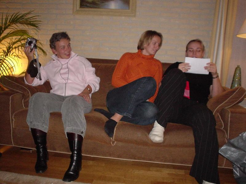 Henriette, Petra and Marleen on the couch