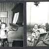 1953 with cousin Margaret, playing the piano (ha ha) in Dadda Herb's study