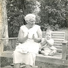 "1953 with Mama Jo at ""Copperhill"" - the Henegar hilltop house that was actually over the line in McCaysville, GA"