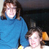 1987 sisters at Sue's home in Weston.  What is it with me and big glasses....