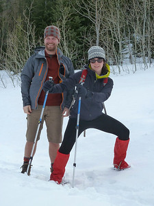 A break in the ski action and time for some hiking action in Bog Cottonwood Canyon.  Bethany is all about action!