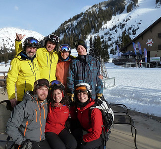 The full team after a classic Alta day.