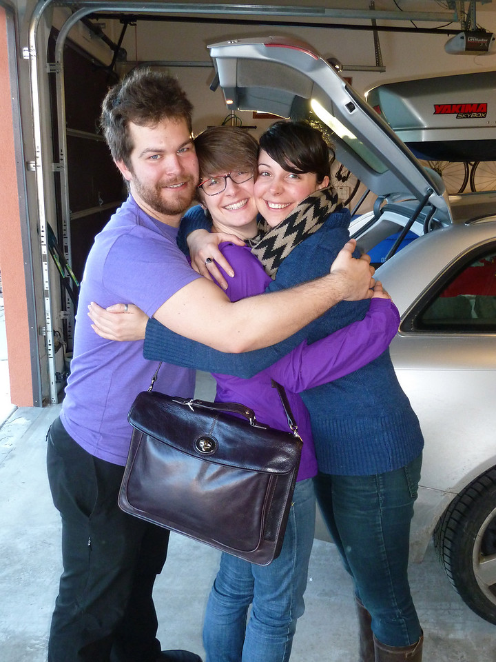 Group hug before heading to the airport.