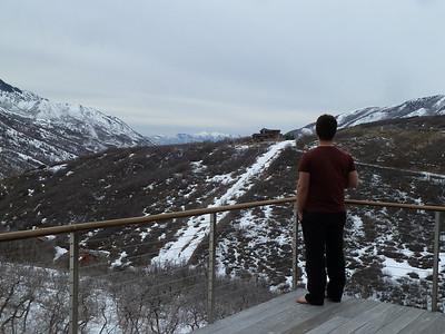 Andrew enjoying the view