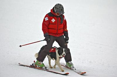 Ski Patrol and his dog