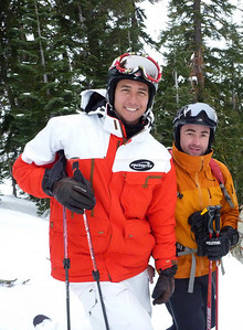With Jonny Moseley in December  2009
