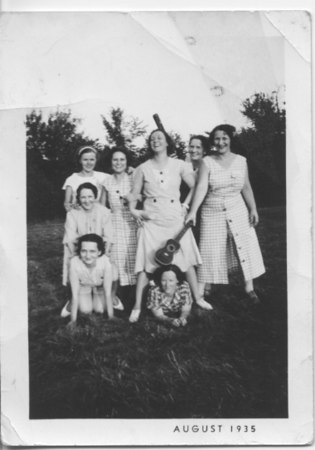 Jennie and friends, August, 1935.