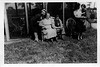 """Anne, Grandma, Bud, Betty, and Madelyn. May, 1943. Caption on back reads: """"Bud's furlough just before going overseas."""""""