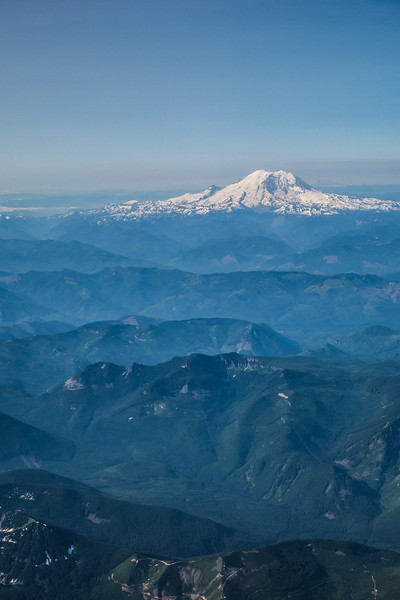 Rainier from the airplane.