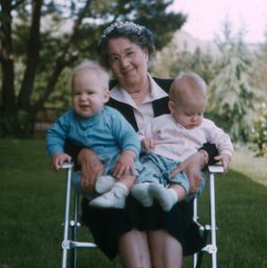 Grandma and Twins, 1955